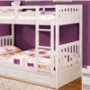 0210M Twin Twin Bunk Bed White