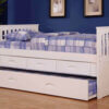 0235 Twin Rake Bed with 3 Drawer and Twin Trundle