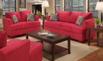 Ashley Red Sofa Love 1