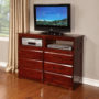 2871 Merlot Entertainment Dresser