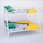 Twin/Full White Metal Bunk Bed 1