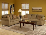 Hazelnut Sofa and Love Seat 1