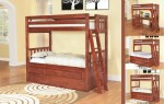 Merlot Twin Twin Convertible Bunk Bed 1