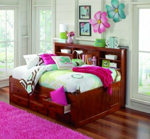 2823 Merlot Full Bookcase Daybed