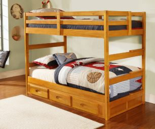 Honey twin Bunk Bed 2108-2