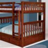 2815 Merlot Full Full Bunk Bed