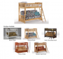 Wood Twin/Futon Bunk Bed 1