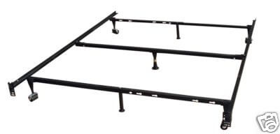 heavy duty metal queen size bed frame w center support 1