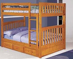 2115 Honey Full Full Bunkbed