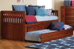 Cherry Captains Bed with 3 Drawers and Trundle 1