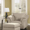 Darcy Stone Chair and Ottoman