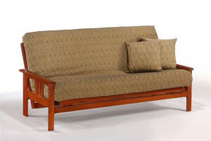 Monterey Cherry Wood Futon