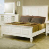 Sandy Beach 201301 White high headboard