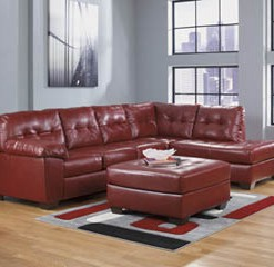 20100-66-17-08_Red Leather Sectional
