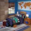 2136_Honey Solid Wood Twin Bedroom