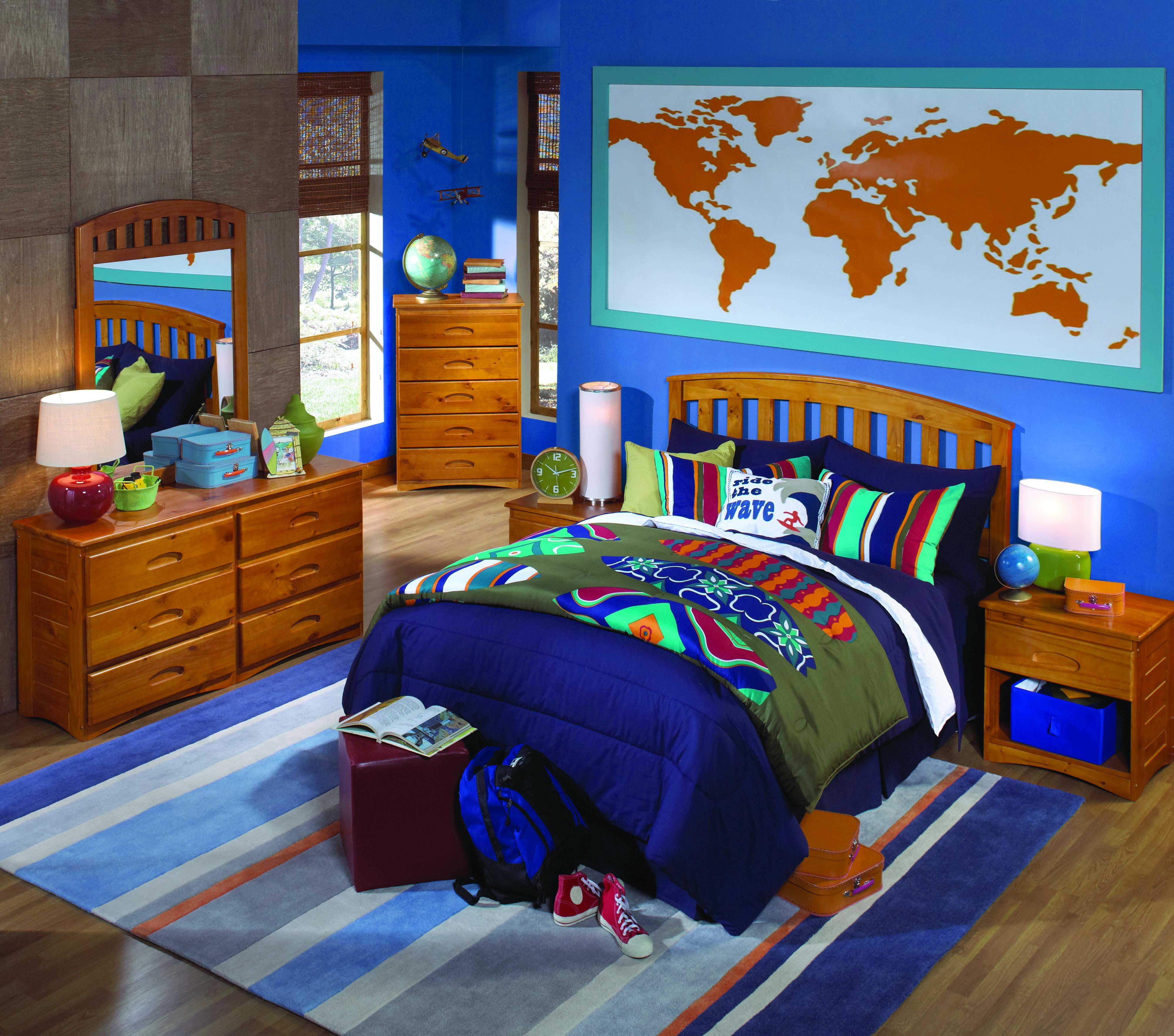 Honey Solid Wood Bedroom All American Furniture Buy 4