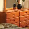 DIS 2150 Honey 6 Drawer Dresser