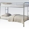 02188A_SI_- Silver Finish – TwinTwin Bunk Bed