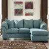 7500618 Blue Sofa Chaise Darcy