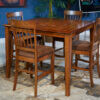 D199-13-324(4)_Square Counter Table & Upolstered Barstool