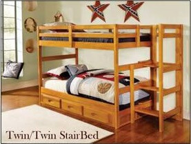 2108 Twin Staircase Bunk Bed