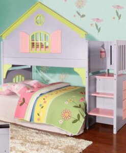 0300 Dollhouse Staircase Loft Bed