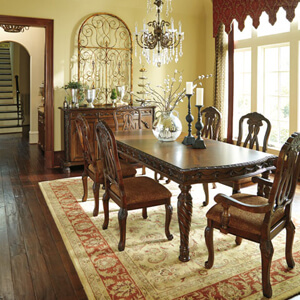 ashley north shore dining room set