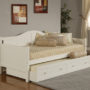1525 Staci Daybed White with Trundle