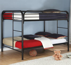 Coaster Fordham Full Over Full Bunk Bed Black All American