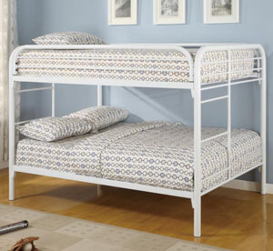 Coaster Fordham Full Over Full Bunk Bed White All American