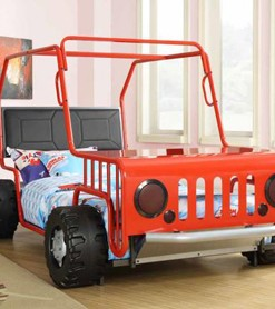 400372 Red Jeep