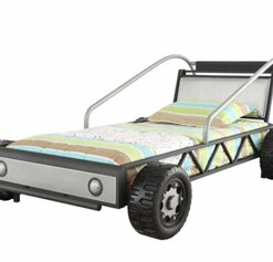 400702 White Car Bed