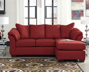 Darcy Salsa (Red) Sofa Chaise - All American Furniture