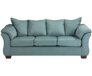 Ashley Signature Darcy Sky Blue Sofa Love