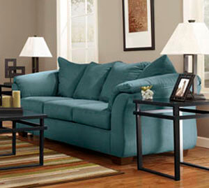 Darcy Sky Blue Sleeper Sofa