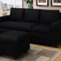 F7490 Sofa Ottoman Black