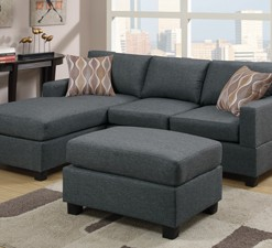 F7496 Blue Grey Sectional
