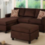 F7661 Chocolate Sectional