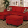 F7668 Red Sectional