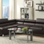 f7299 Poundex Espresso 2-Piece Sectional