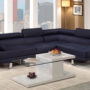 f7569 Poundex Blue 2-Piece Sectional