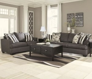 Miraculous Levon Sofa And Love Charcoal Home Interior And Landscaping Elinuenasavecom