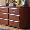 DIS 2850 Merlot 6 Drawer Dresser