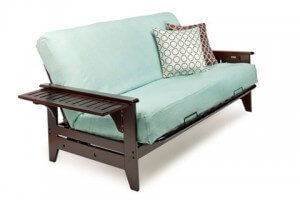 C Metal Wood Futon