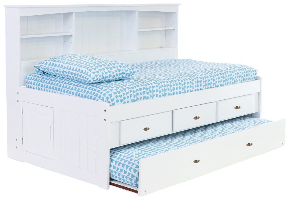 White Twin Bookcase Daybed All American Furniture Buy 4 Less Open To Public