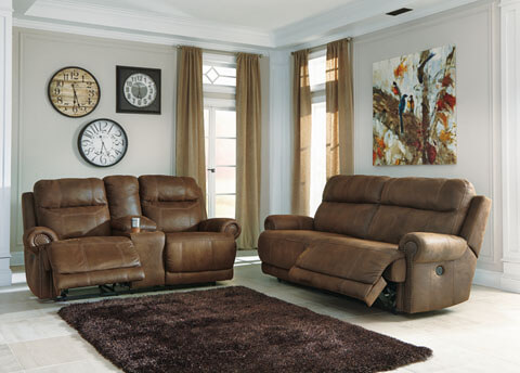 Austere Brown Reclining Sofa Love All American Furniture