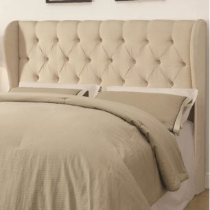 Beige Button Tuft Headboard
