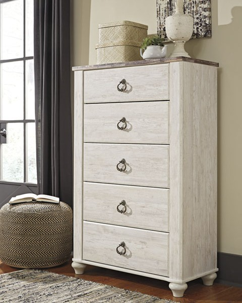 Willowton Sleigh Bedroom Collection All American