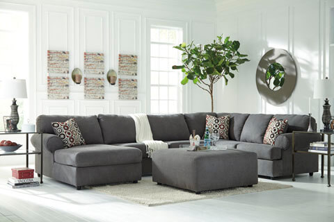 Jayceon Steel Sectional - All American Furniture - Buy 4 Less - Open ...