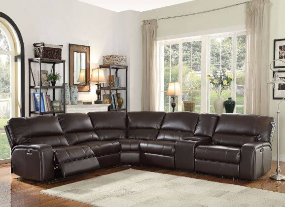 Saul Brown Reclining Sectional All American Furniture